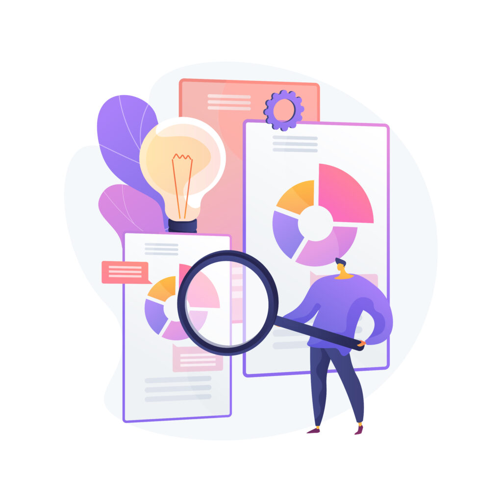Competitive intelligence abstract concept vector illustration. Business intelligence, information analysis, market research strategy, analytics software, competitive environment abstract metaphor.